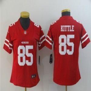 Women San Francisco 49ers 85 George Kittle Jersey